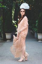 light pink velvet AMYCLAIRE dress - light pink Forever21 sunglasses