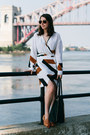 White-wrap-printed-dvf-dress-dark-brown-cwonder-sunglasses