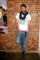 Diesel jeans - Urban Outfitters t-shirt - YarnOverMovement scarf