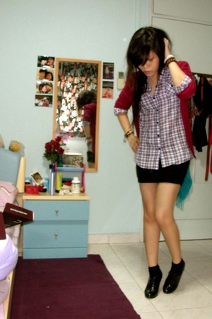 Topshop shirt - - f21 skirt - zipia shoes