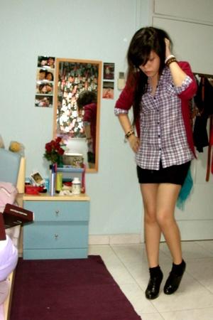 Topshop shirt - - f21 skirt - zipia shoes