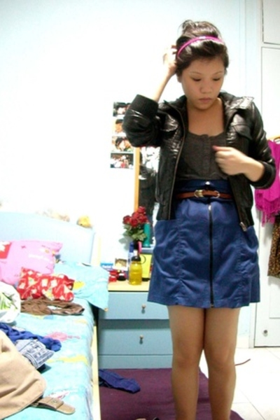 Topshop jacket - Soon Lee skirt - Topshop belt - random