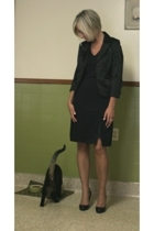 blazer - calvin klein dress - Jessica Simpson shoes