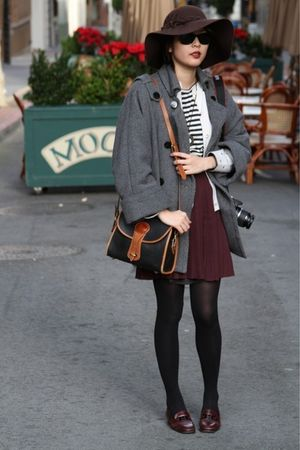 Mango coat - Zara top - skirt - hat - shoes