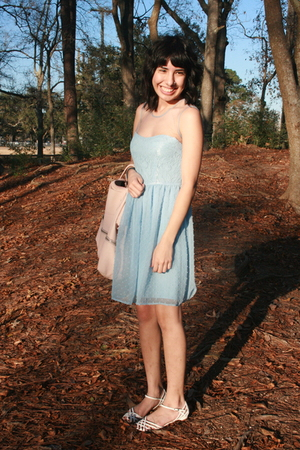 blue Rodarte for Target dress - white payless shoes - pink zipia purse - blue St