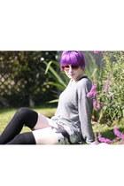 bodycon Lovelysally skirt - H&M jumper