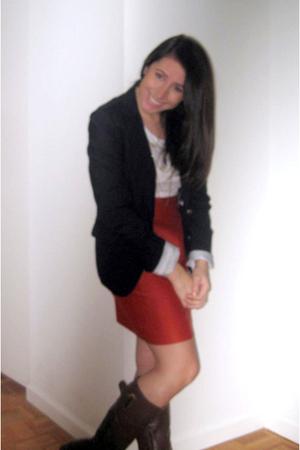 Gap blazer - H&M shirt - banana republic skirt - Lord & Taylor boots