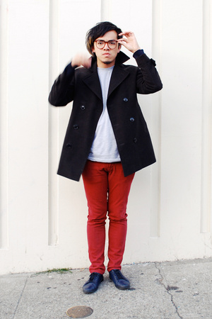 H&M coat - H&M sweater - American Apparel shirt - SR shoes
