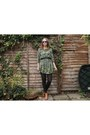 Green-smock-asos-dress-blue-wayfarer-surfdome-sunglasses