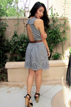 slate gray Sugarlips dress