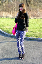 Cambridge Satchel Company bag - polka dot pants Forever 21 jeans - Old Navy top