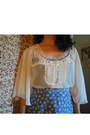Sky-blue-flowered-thrifted-vintage-skirt-white-lace-tj-maxx-blouse