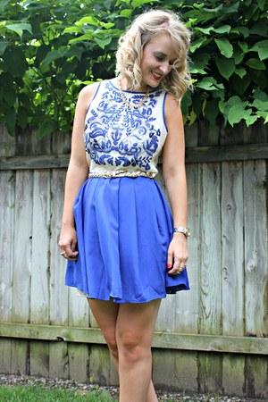 blue Ruche dress