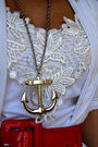 White-forever-21-top-white-forever-21-cardigan-red-charotte-russe-belt-blu