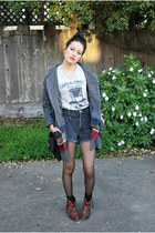 lifetime collective coat - lulus boots - hella vintage shorts
