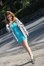 Turquoise-blue-cotton-tally-weijl-dress