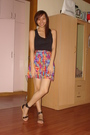 Black-zara-top-skirt-silver-trunkshow-shoes