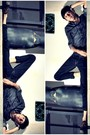 Black-radioactive-shirt-black-scarlets-jeans-brown-timberland-shoes