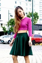 hk closet skirt - DIY crop top