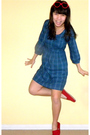 Red-sunglasses-blue-bdg-dress-red-toms-shoes