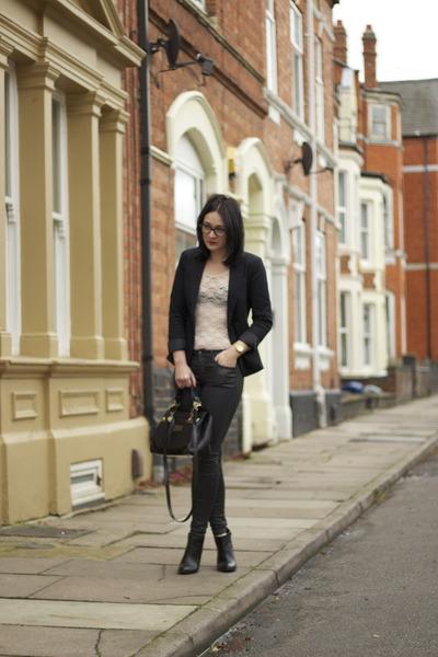 Zara boots - Topshop jeans - Zara jacket - Topshop bodysuit