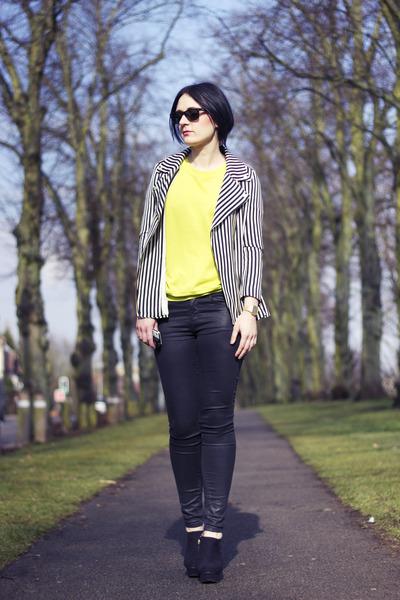 Zara boots - black Topshop jeans - Zara jacket - Zara jumper
