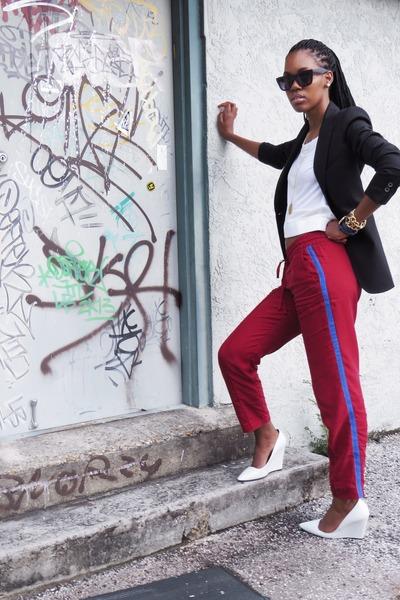 brick red Zara pants