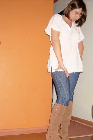 Nine West boots - skinny jeans Guess pants - Zara blouse
