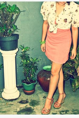 bohemian top meet peach dress