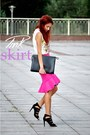 pink Choies skirt - white Lovelyshoes top