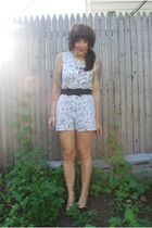 white value village Vintage romper shorts