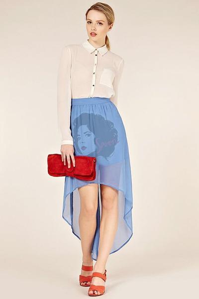 sky blue IDILVICE FASHION skirt - ivory IDILVICE FASHION blouse