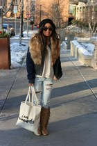fringe Steve Madden boots - destroyed Urban Outfitters jeans