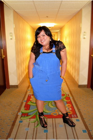 blue H&M dress - black Jeffrey Campbell shoes