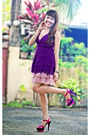 Hot-pink-call-it-spring-heels-bubble-gum-skirt-purple-top