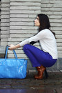 Blue-h-m-trend-pants-tawny-alexander-wang-boots-silver-gina-tricot-sweater