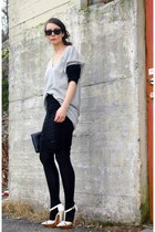black Alexander Wang skirt - heather gray Malene Birger jumper
