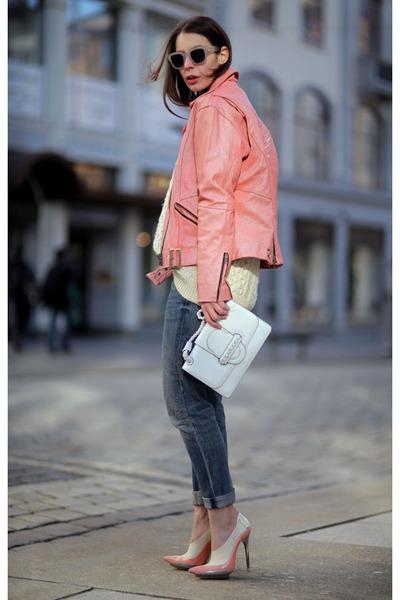 Bubble-gum-vintage-jacket-bubble-gum-balenciaga-heels