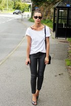 H&M pants - McQueen pumps - handmade t-shirt