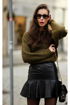 black Givenchy skirt - army green Isabel Marant Etoile sweater