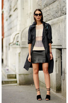 white Isabel Marant sweater - black Burberry skirt