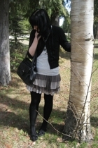 Zara skirt - RW&CO sweater - Old Navy t-shirt - random tights - jessica sport sh