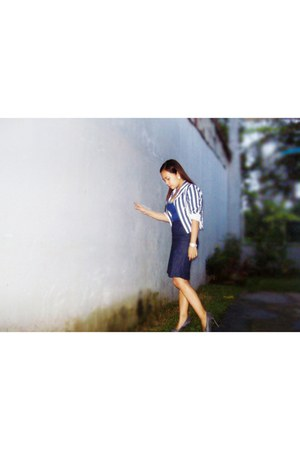 blue stripes cropped cherieloves2shopmultiplycom blazer - blue chained vintage b