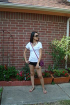 magenta Forever 21 purse - black Forever 21 shorts - black Prada sunglasses