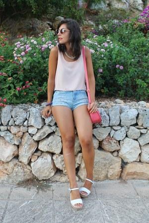 Bershka shorts - asos sunglasses - Local store top