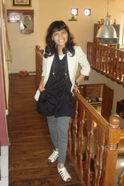 blazer - coat - leggings - shoes