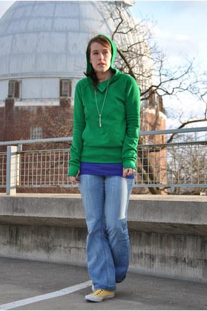 green H&M sweatshirt - yellow Philip Simon sneakers