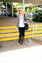 Forever 21 sweater - Forever 21 boots - Target jeans - cotton on shirt