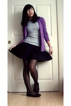 purple Target cardigan - gray Gap t-shirt - black Wilson skirt - black Forever 2