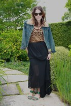 vintage jacket - leopard print Dolce & Gabbana top - pleated maxi acne skirt